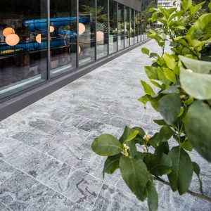 Pfosten Riegel Fassade, Quellenhof