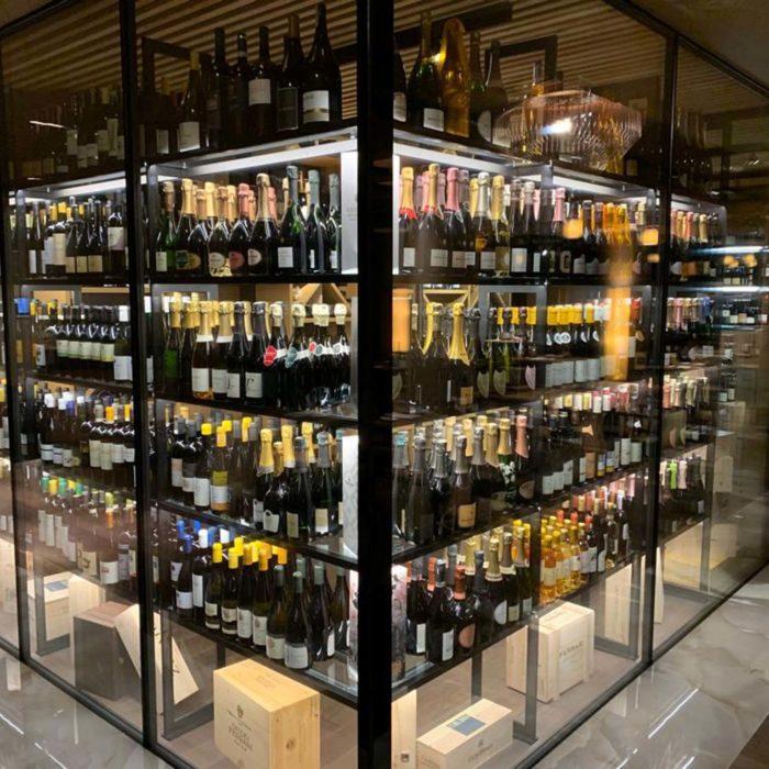 Wine cabinet, Lefay Resort & Spa Dolomiti