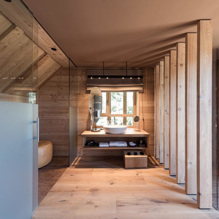 Glas partition, Adler Lodge Ritten
