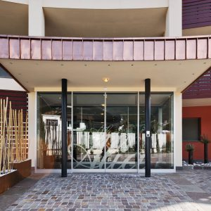 Linear sliding door, Hotel Alia