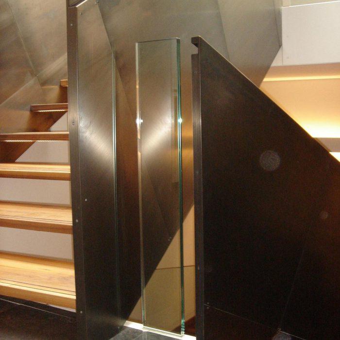 Glas-Stahltreppe, Sparim Brixen
