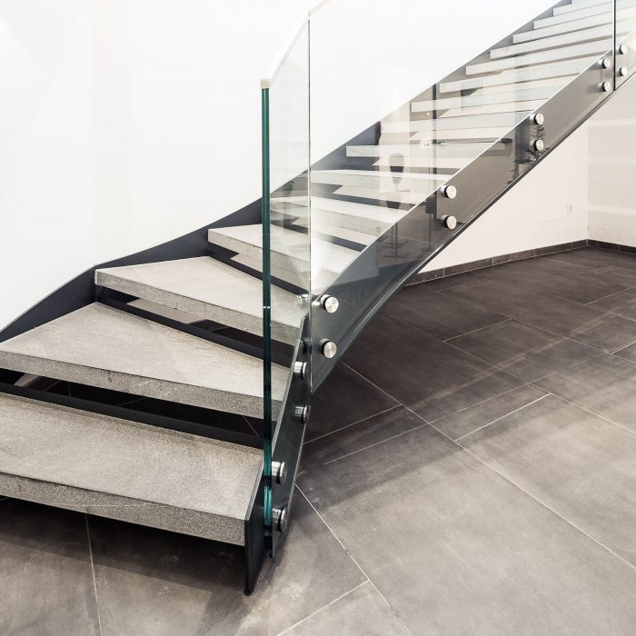Glass & steel stair, Hotel Weinegg