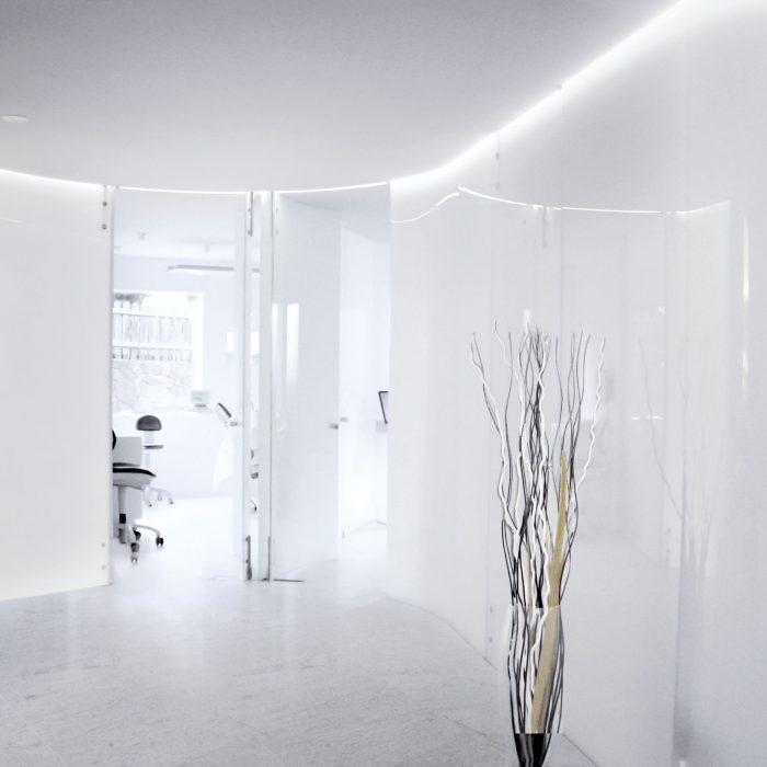 Glastrennwand, Stufflesser Zahnarztpraxis