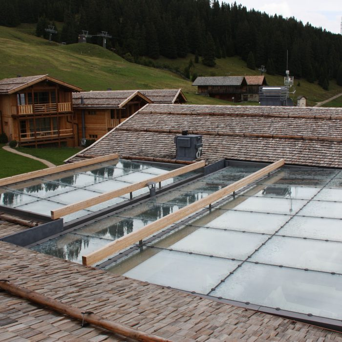 Glas- und Metallkonstruktion, Adler Mountain Lodge